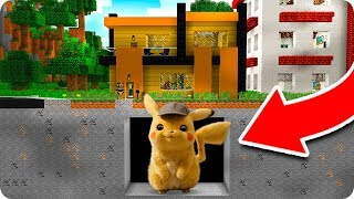 Aparece Detective Pikachu Mutante Gigante Debajo De Mi Casa En Minecraft 😱