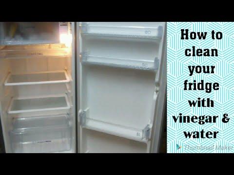 How to clean a fridge || avoid bad smell || using water & vinegar || SAi Priya Diaries