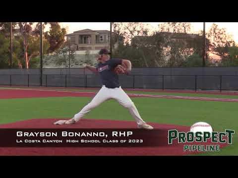 Grayson Bonanno Prospect Video, RHP, La Costa Canyon High School Class of 2023
