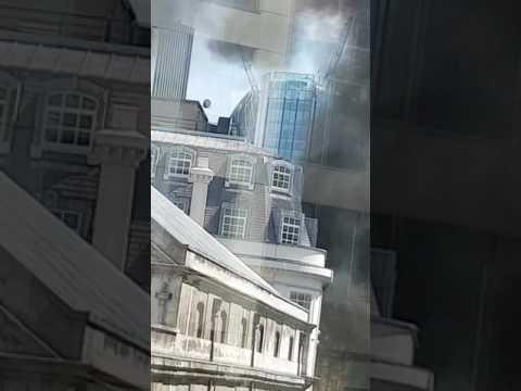 Fire in Gresham Street London