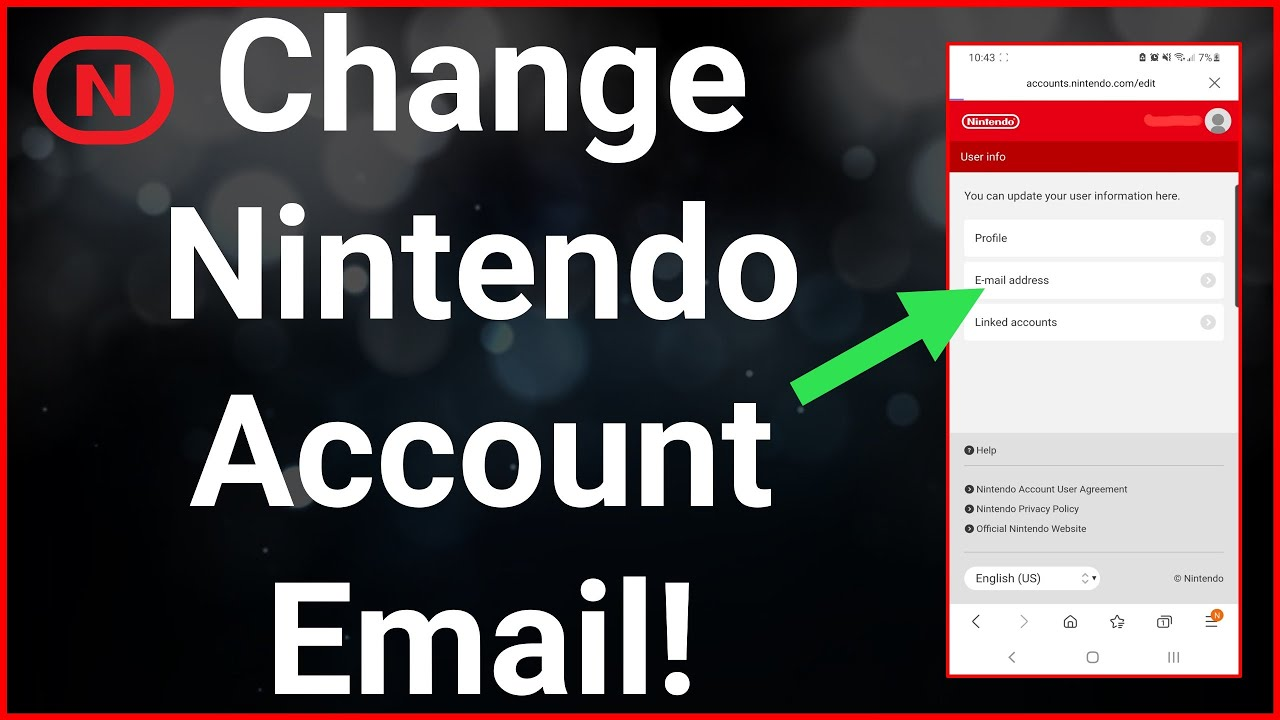 How To Change Email In Nintendo Account (2021)