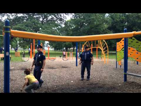 Watch police play with Flint-area kids