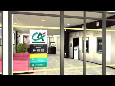 Crédit-Agricole - Vidéo de présentation d'une future agence du Crédit-Agricole