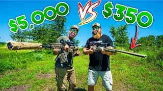 $350 Walmart Rifle VS $5,000 Sniper Rifle - Shocking Results