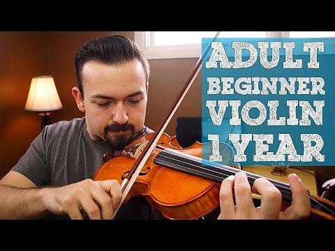 Adult Beginner 1 Year Volin Progress - Classical and Bluegrass