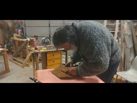 repairing a old broken down lamp stand 1