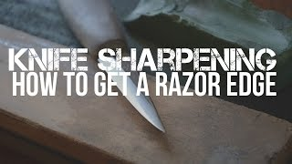 Knife Sharpening - Sharpening A Mora Carving Knife To A Razor Edge.