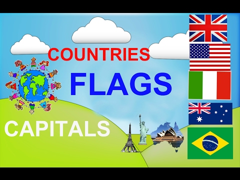 Geography video for kids Countries Capitals Flags for children