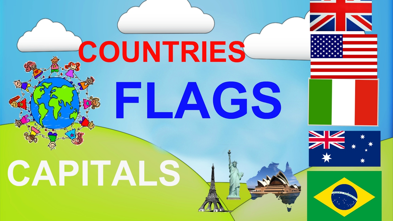 Geography Video For Kids Countries Capitals Flags For Children - Countries and capitals game
