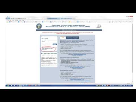 Nevada Health Facility Online Licensing System