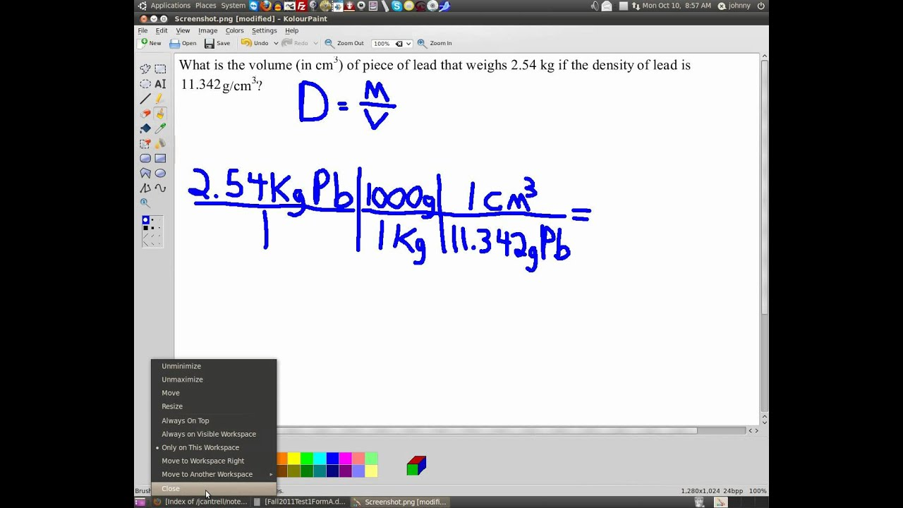 Calculating Volume From Density And Mass Www