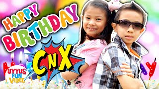 Kado ulang tahun buat cnx adventurers dari uyyus fun video, lagu anak ada badut lucu spesial ultah chiara ke 10 dan xavier 8, semoga seha...