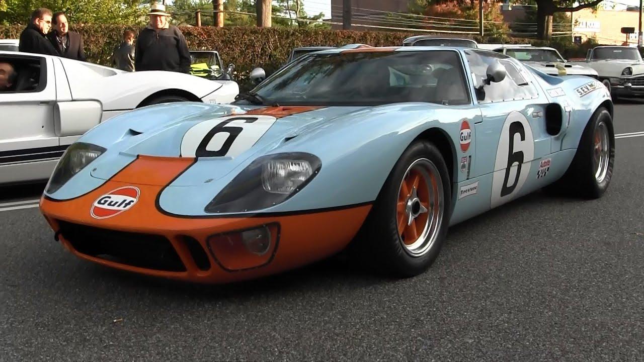 Gulf Livery Ford Gt Sound Ferrari  Italia Manhasset Concours