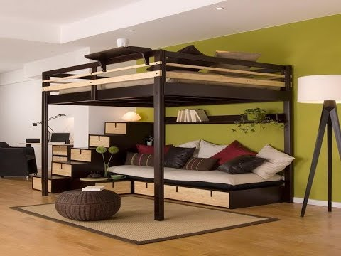 full size loft bed frames youtube. Black Bedroom Furniture Sets. Home Design Ideas