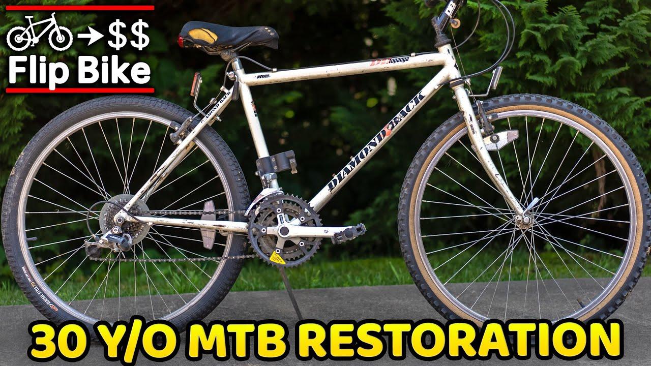 90's Mountain Bike gets Transformed for Profit (Flip Bike EP1)