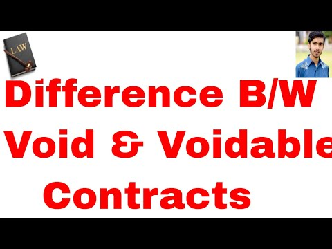 Void agreement ytvideos difference between void and voidable contracts in hindi and urdu or contract act 1872 part 11 platinumwayz