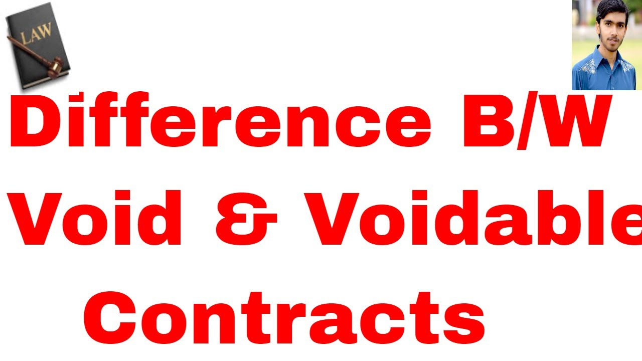 Difference Between Void And Voidable Contracts In Hindi And Urdu Or
