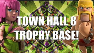Clash of Clans | Town Hall 8 Trophy Base [Speed Build]