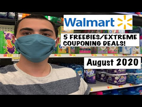 5 FREEBIES AT WALMART/EXTREME COUPONING DEALS!-- AUGUST 2020