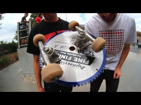 SKATEBOARDING ON A SAW BLADE | SKATE EVERYTHING EP 32