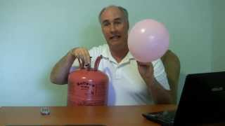 How to fill balloons from helium tank