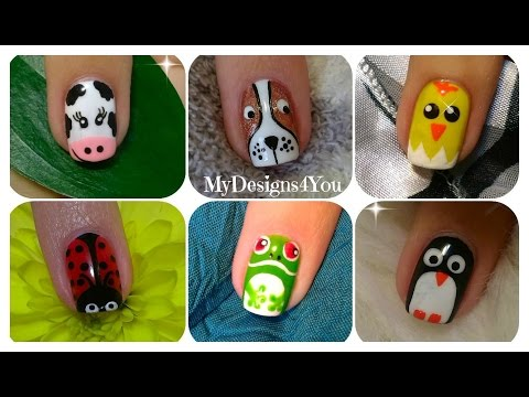 Cute Animal Nail Art Design Tutorials. Compilation No.1  ♥