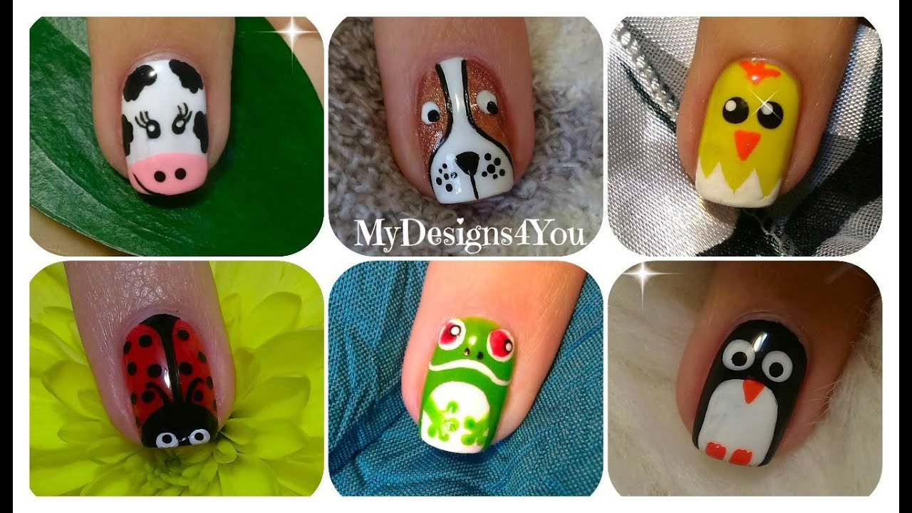 Animal Nail Art Compilation No.1 ♥ - Animal Nail Art Compilation No.1 ♥ - YouTube