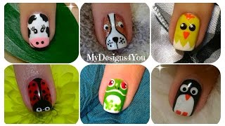 Animal Nail Art Compilation No.1  ♥