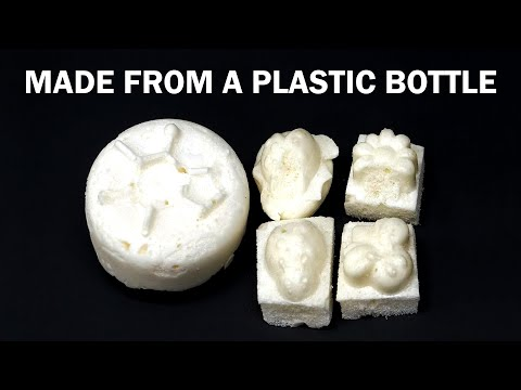 Turning a plastic soda bottle into foam