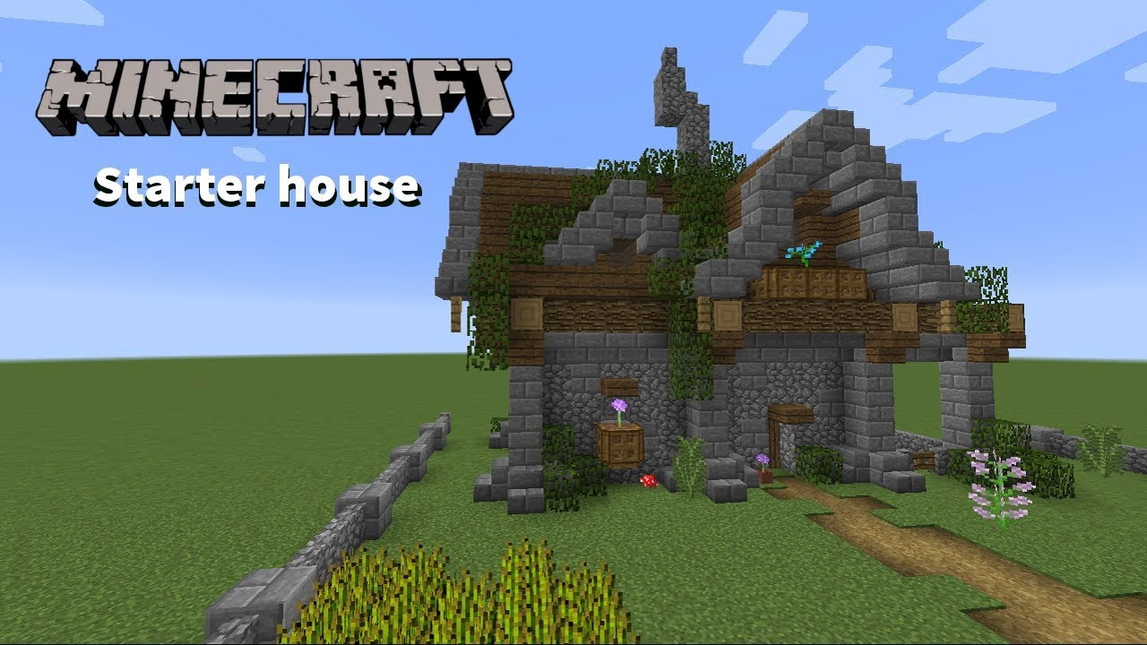 Minecraft How To Build - Starter House    Spawn House Tutorial