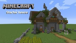 Minecraft How to build - Starter house / spawn house tutorial