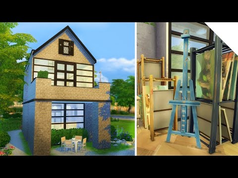 Swedish Art Studio Build | The Sims 4
