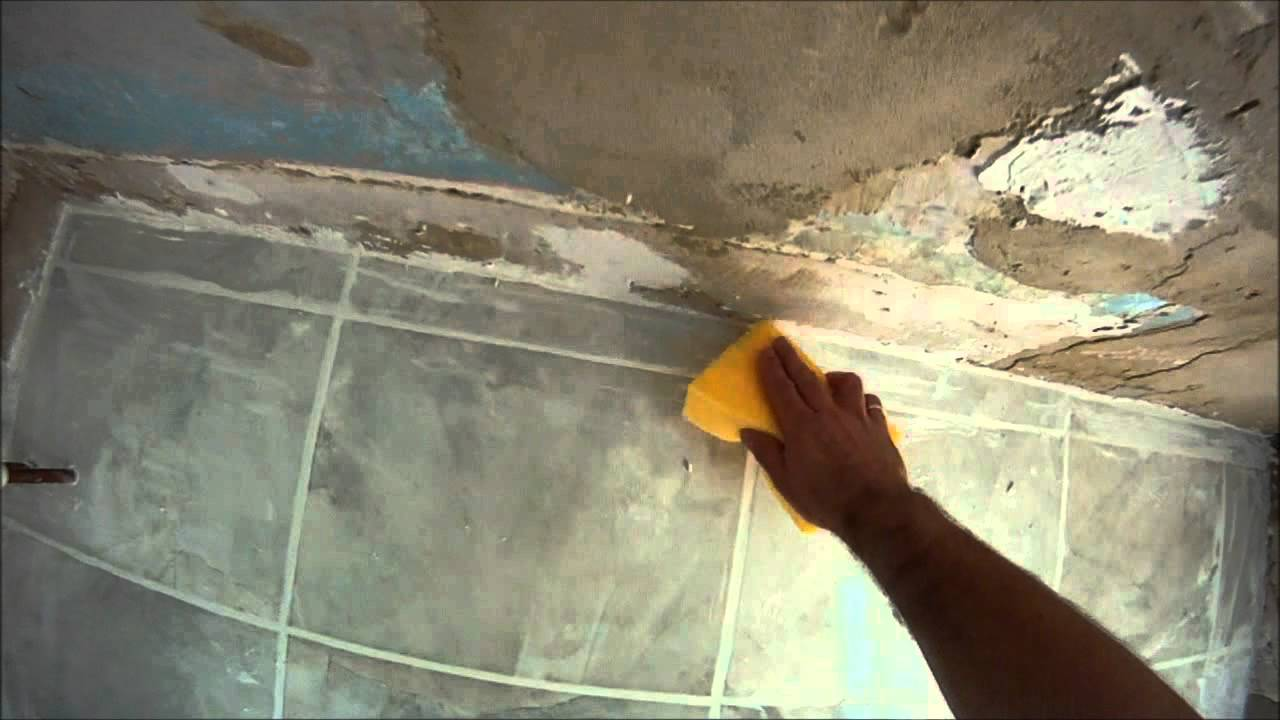 How to grout a tiled bathroom floor hd youtube dailygadgetfo Choice Image