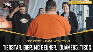 TopTier Takeover Frauenfeld: 11.06.19 - Die Cypher feat. MC GEUNER, QUAME65, GIER, TIERSTAR