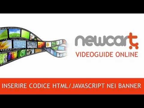 Come inserire del codice html/javascript nei banner su un e-shop NewCart