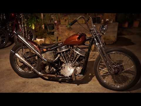 54`PANHEAD CHOPPER Fired up Build by BLUE GROOVE