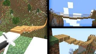 TEK TIKLA OTOMATİK KÖPRÜ YAPIYORUZ! - Otomatik Köprü Yapma Modu - Minecraft Mod Tanıtımı TÜRKÇE