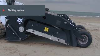 Bobcat Beach Sand Cleaner attachment cleaning sand recovering waste and lost valuables jewelry