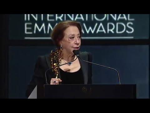 Fernanda Montenegro winning Best Actress in International Emmy - 2013