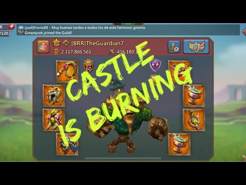 Lords Mobile Trap - Castle Is On FIRE!!! Was It A Glitch, Was I Too Late, Or He Was Just Too Strong?