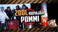 Nyt räjähtää KUIVAJÄÄPOMMIT !! 200L tynnyri, 1,5L & 0,33L pullo.