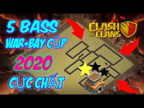 (clash of clans)Chia sẽ 5 bass nhà thủ WAR+BAY CÚP Cứng dành cho tất cả AE hall8 - chiến thần cóc