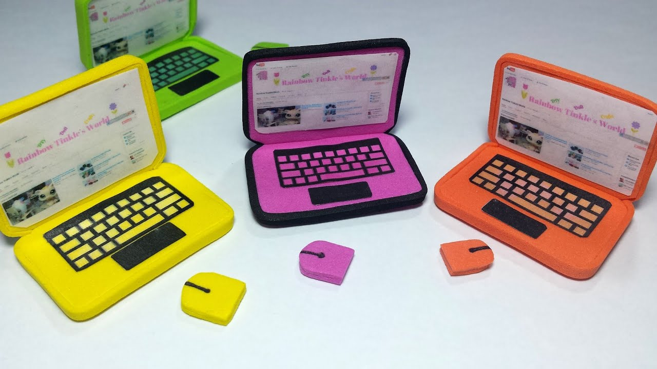 Diy Doll Laptop For Lps Or Mlp Youtube