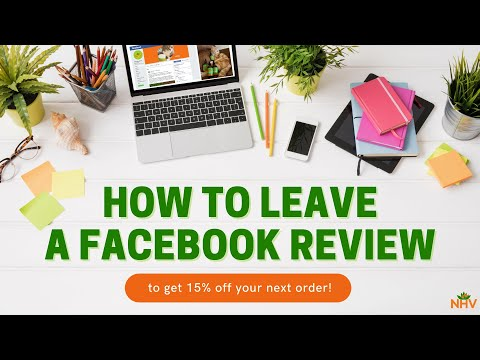 How To Leave A Facebook Review To Get 15% Off Your Order