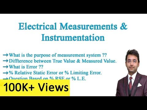 Electrical Measurement & Instrumentation Lecture # 1