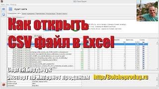 Как открыть файл CSV в Excel