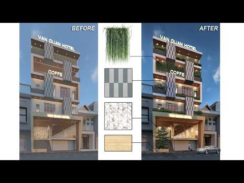 ✅ Cách HẬU KỲ NGOẠI THẤT, Photoshop phối cảnh ngoại thất, cảnh góc [Video 4K] | Photoshop kiến trúc