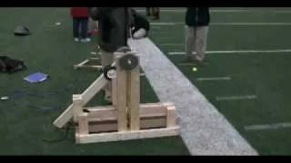 Floating Arm Trebuchet In Slow Motion