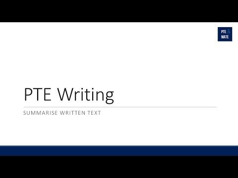 PTE Writing Summarise Written Text