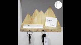 видео Ключница настенная декоративная деревянная, купить ключницу металлическую в прихожую